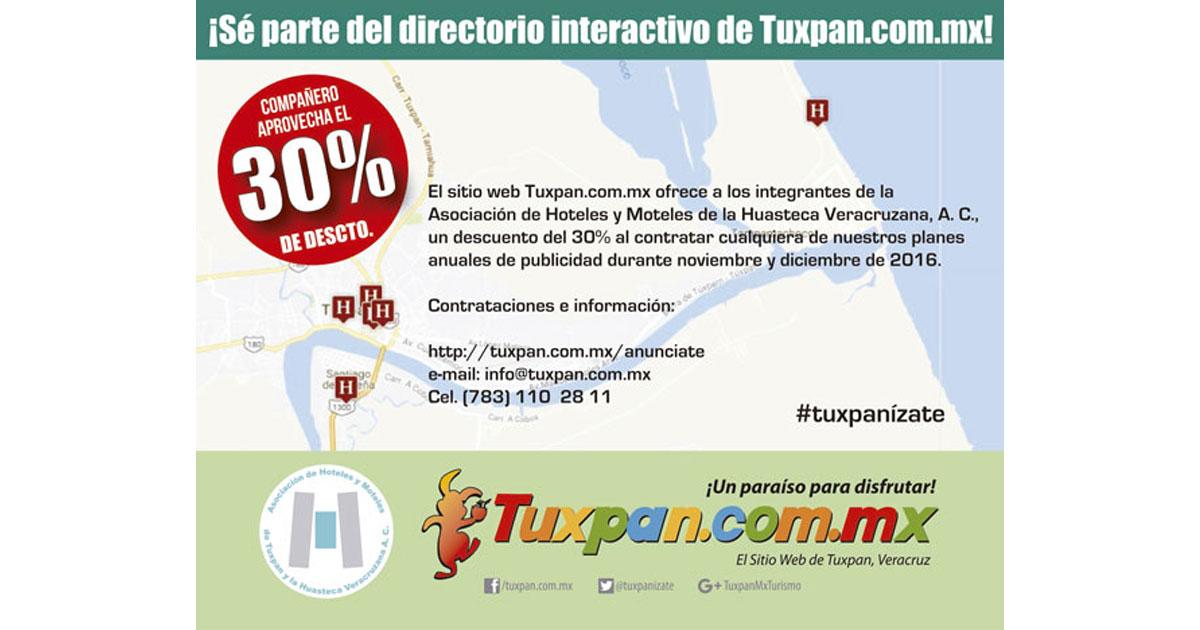 Descuento en Publicidad Digital para Hoteles de Tuxpan, Ver.