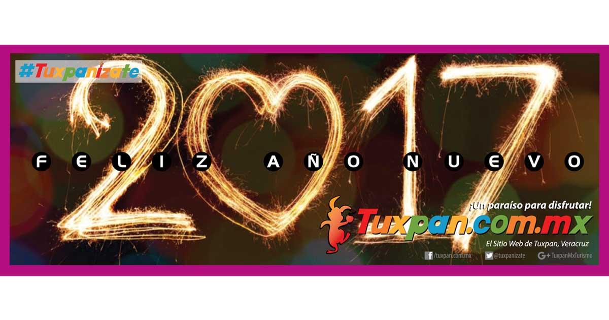 Feliz año nuevo 2017 desde Tuxpan, Ver.