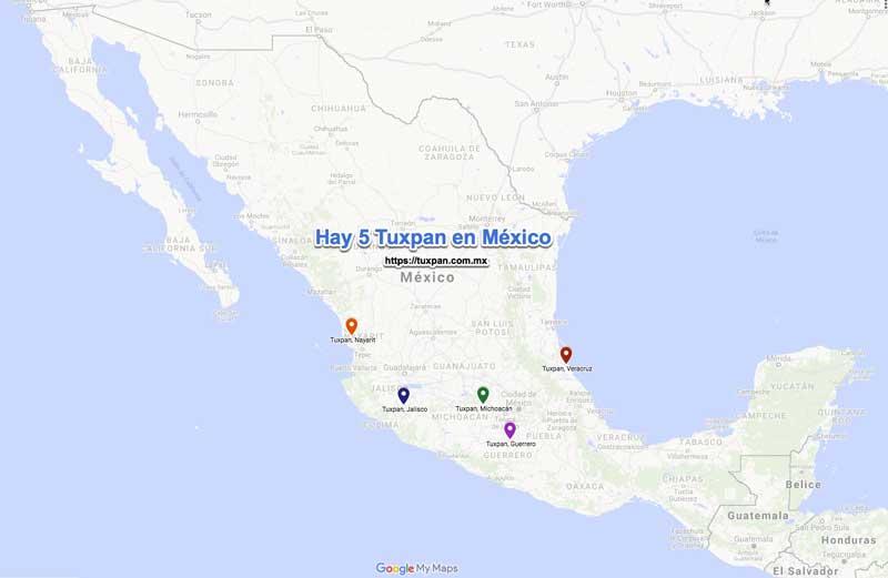 Los 5 Tuxpan de México