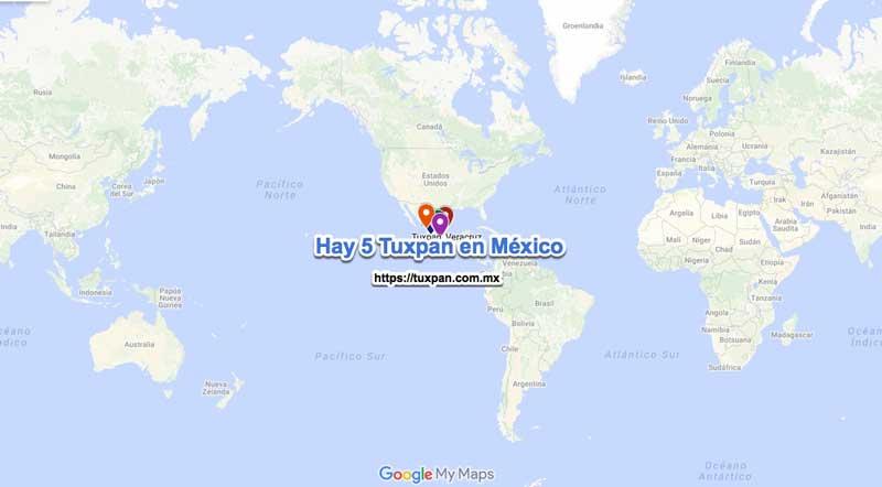Hay 5 ciudades que se llaman Tuxpan