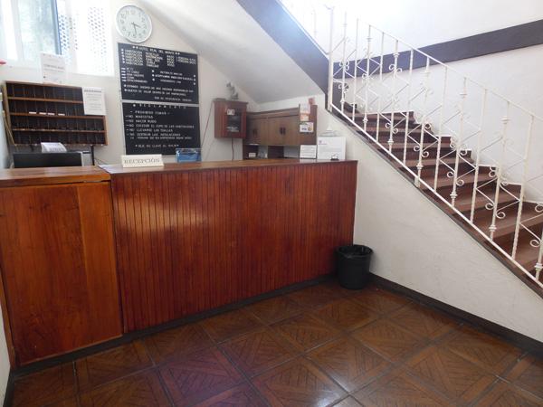 Entrada hotel Real del Monte en Tuxpan, Ver.