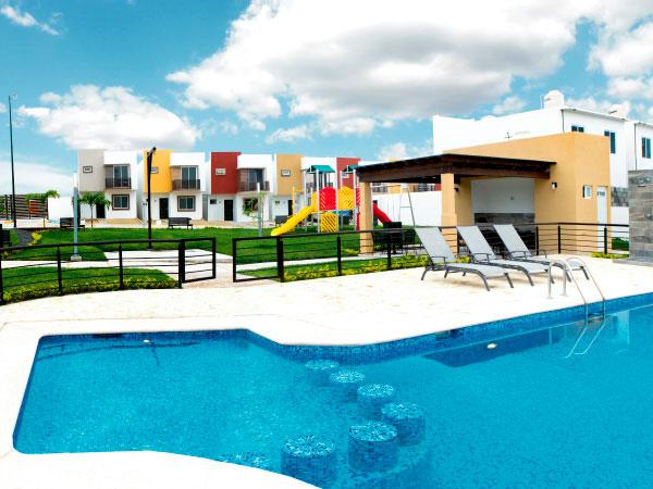 Área club con alberca en Valle Alto en Tuxpan, Ver.