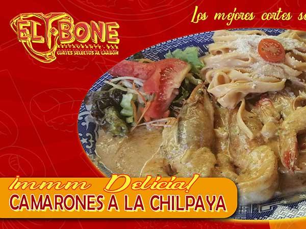 Camarones a la chilpaya del restaurante Tbone en Tuxpan