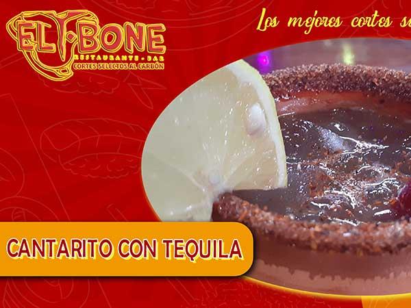 Cantarito con tequila del restaurante T-bone en Tuxpan, Ver.