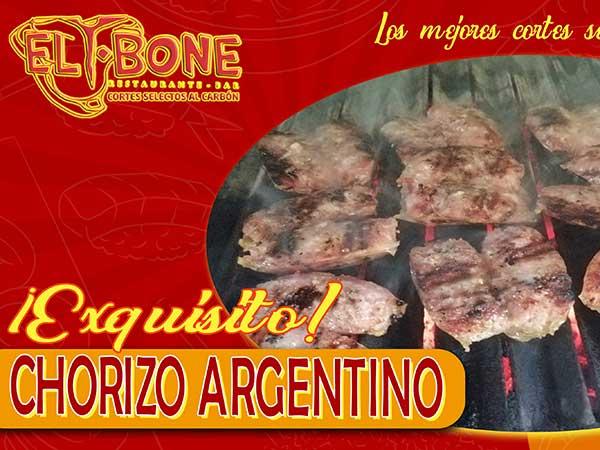 Chorizo argentino - Restaurante T-Bone en Tuxpan