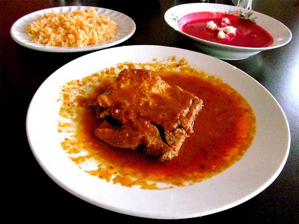 Comida corrida del Restaurante la Nueva Cascada en Tuxpan, Ver.