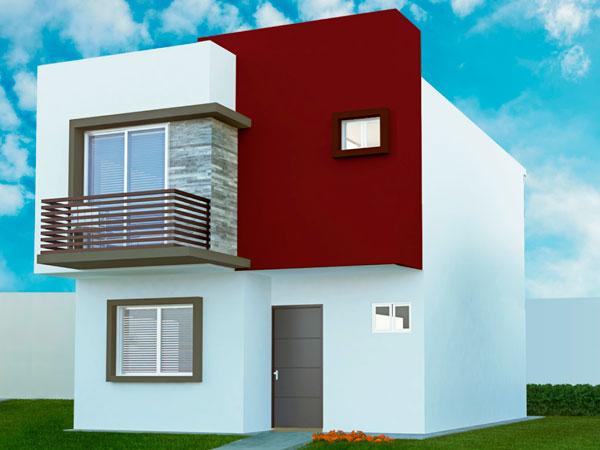 Fachada casas Valle Alto en Tuxpan, Ver.