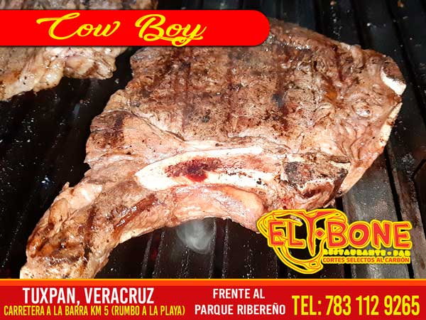 Corte carne Cowboy - Restaurantes Tuxpan