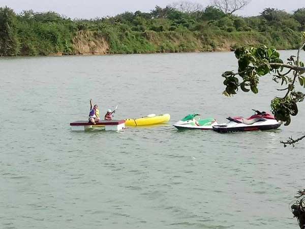 Deportes acuáticos del Huerto del Bambú en Tuxpan, Ver.