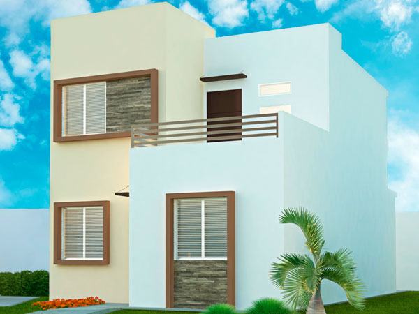 Exterior fachada casas Valle Alto en Tuxpan, Ver.