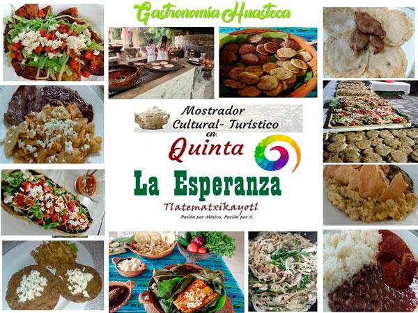 Gastronomía, comida Huasteca en la Quinta la Esperanza en Tuxpan, Veracruz