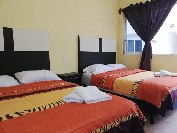 Habitación doble del hotel City Gil en Tuxpan, Veracruz