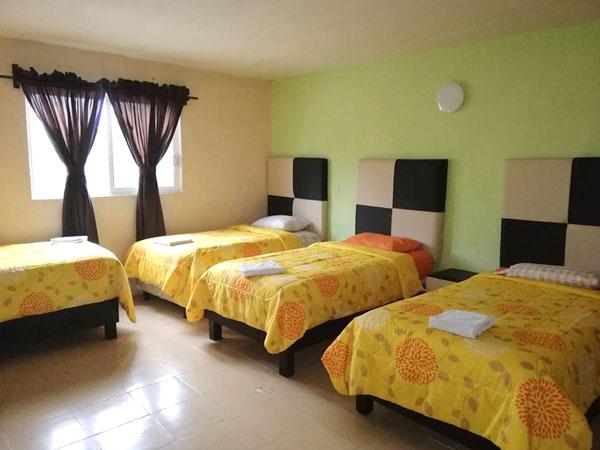 Habitaciones familiares del hotel City Gil en Tuxpan