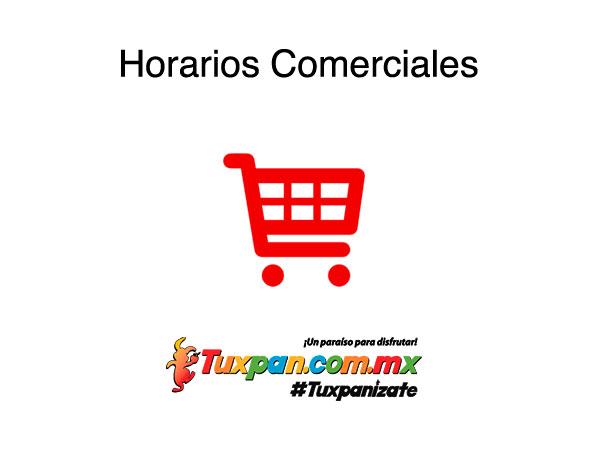 Horarios comerciales de Tuxpan, Veracruz