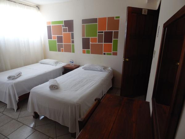 Habitaciones dobles del hotel Real del Monte en Tuxpan