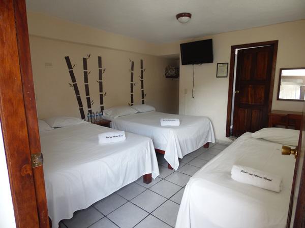 Habitaciones familiares del hotel Real del Monte en Tuxpan