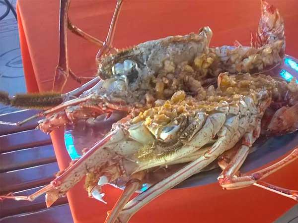 Langostas del restaurante del Mar en Tuxpan