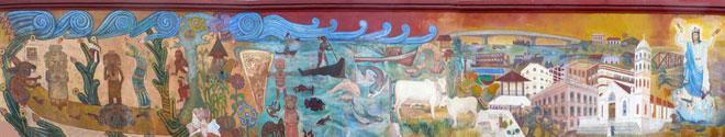 Mural plaza cívica de Tuxpan, Veracruz - Qué visitar