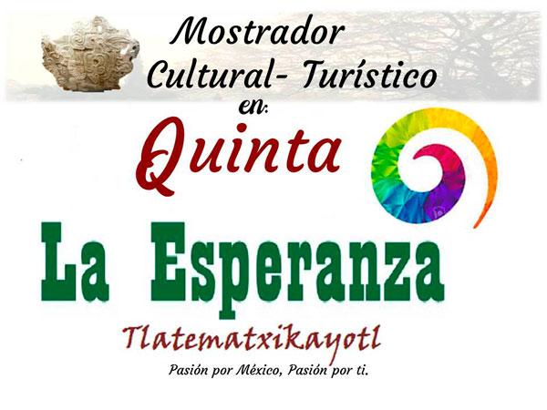 Mostrador Cultural Turístico en Quinta la Esperanza en Tuxpan, Veracruz