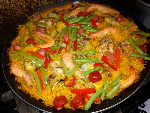 Paella del Restaurante La Nueva Cascada en Tuxpan, Ver.