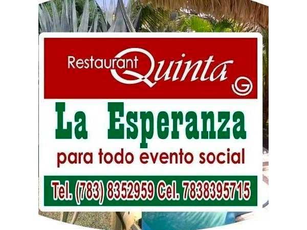 Restaurante de la Quinta la Esperanza en Tuxpan, Ver.