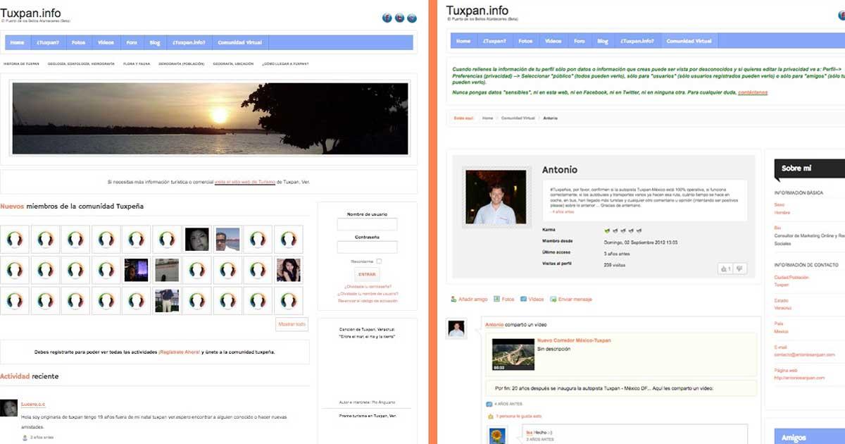 Imagen de la Web Tuxpan.info