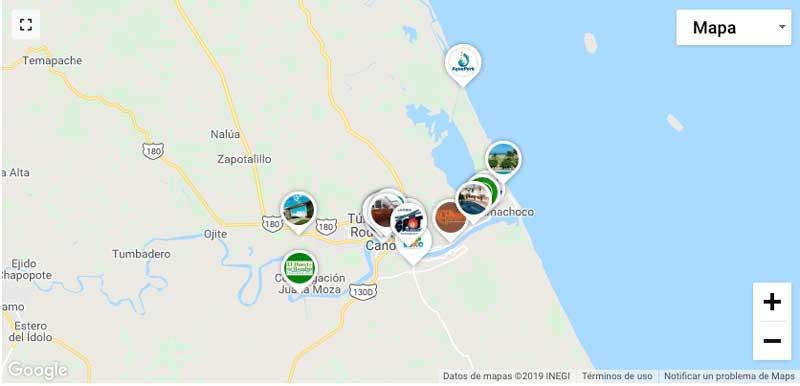 Imagen de mapa comercial del directorio digital de Tuxpan, Veracruz