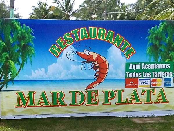 Logo Restaurante Mar de Plata en la playa de Tuxpan, Veracruz