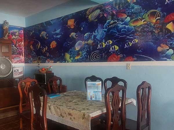 Restaurante del hotel Paraíso Real en la playa de Tuxpan