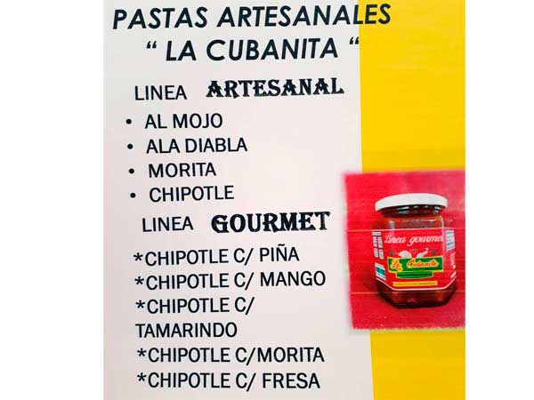Sabores de las Salsas artesanales la Cubanita en Tuxpan, Veracruz